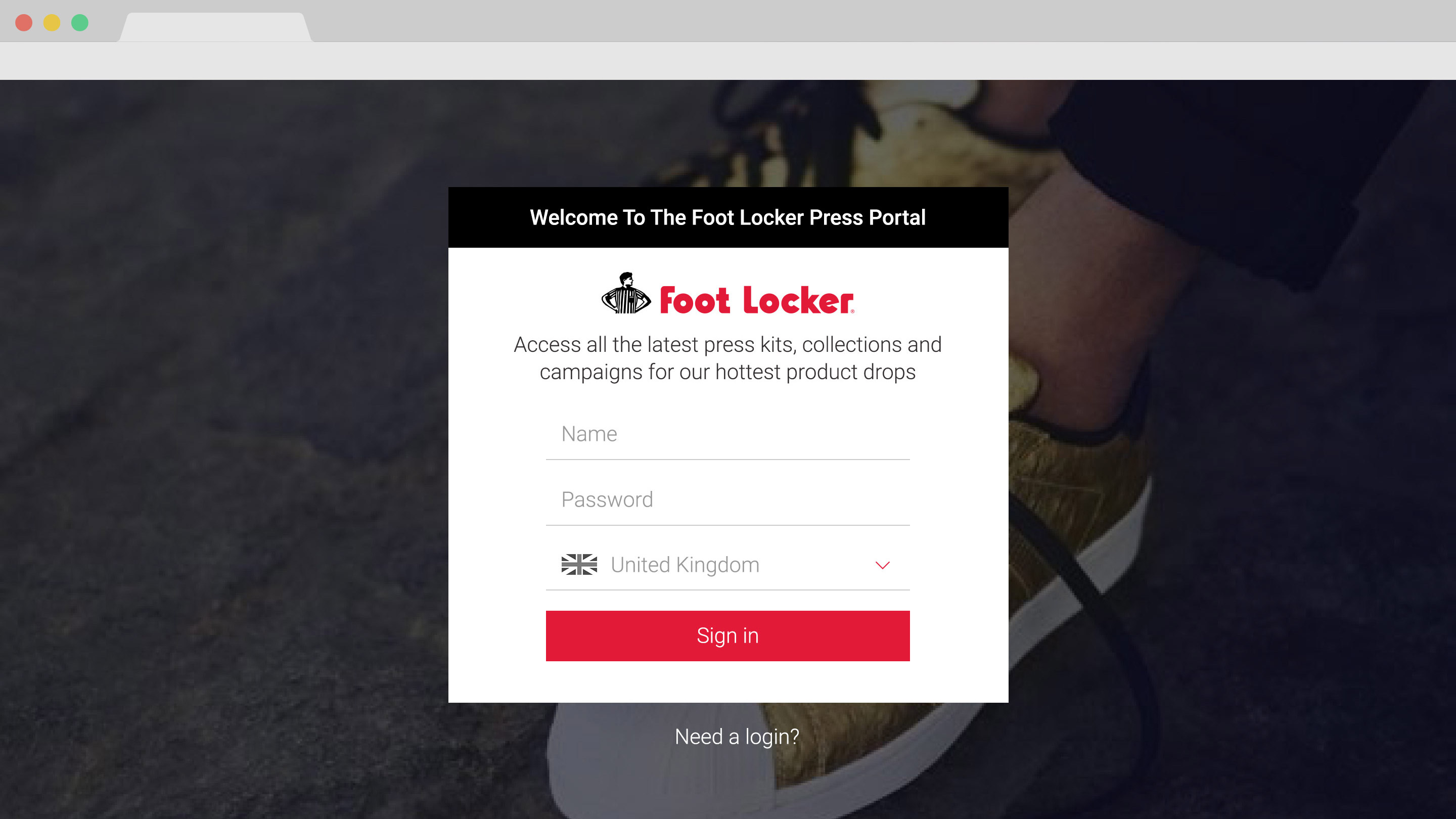 FootLocker_01-Login